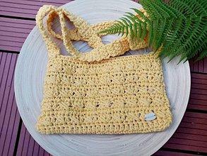 Kabelky - Háčkovaná kabelka žltá - 12225861_