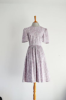 Šaty - Bavlnené šaty s jemným geometrickým vzorom - 12224920_