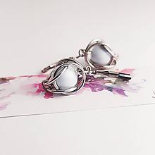 Náušnice - Pastelová sw perlička - chir. oceľ - 12227493_