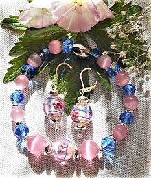 Sady šperkov - Unikátne kúsky- mačacie oko- hematit - 12229516_