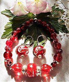 Sady šperkov - Unikátne kúsky- Kremeň- hematit - 12229552_