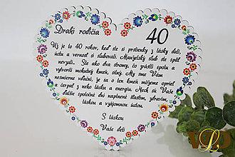 Dekorácie - Výročie svadby Ľudové srdce - 12228762_