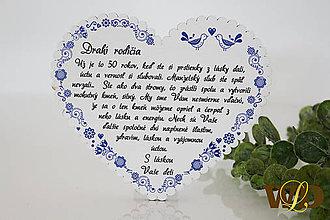 Dekorácie - Výročie svadby Ľudové srdce - 12228765_