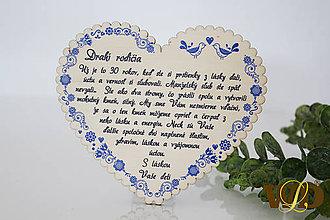 Dekorácie - Výročie svadby Ľudové srdce - 12228768_