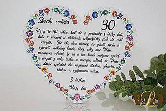 Dekorácie - Výročie svadby Ľudové srdce - 12228769_