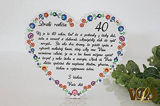Dekorácie - Výročie svadby Ľudové srdce - 12228785_