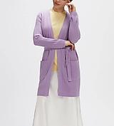 Svetre/Pulóvre - elegantný fialový sveter - 100% kašmír - 12229475_