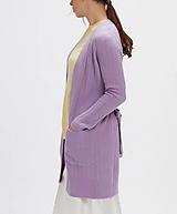 Svetre/Pulóvre - elegantný fialový sveter - 100% kašmír - 12229477_
