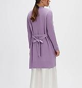 Svetre/Pulóvre - elegantný fialový sveter - 100% kašmír - 12229478_