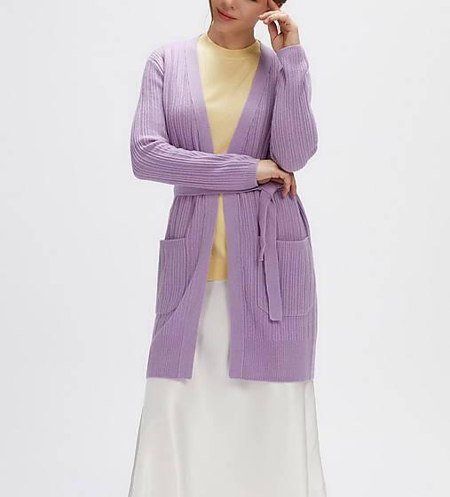 elegantný fialový sveter - 100% kašmír