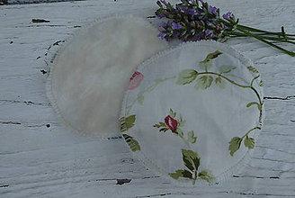 Úžitkový textil - Tampóy pre dojčiace mamičky bez PUL-kvety - 12229100_