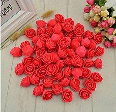 Galantéria - Penové ruže, 10 ks - 12227749_