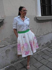 Sukne - sukňa kvetovaná - 12227530_