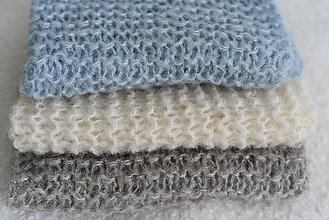 Textil - Pletená vzorovaná podložka na fotenie novorodencov a bábätiek - 12229269_