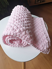 """Textil - Heboučká """"bublinková"""" žinylková deka pro miminko - růžová - 12229179_"""