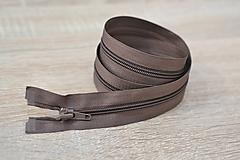 Galantéria - hnedý špirálový bundový zips 85 cm - 12227540_