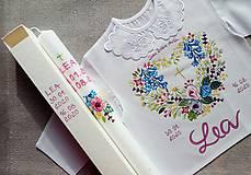 Detské oblečenie - Set do krstu -Rozkvitnutá lúka - 12231021_