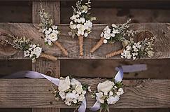 Iné - Svadbný set pierka a náramky - 12233028_