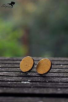 Náušnice - Hodvábne bodky - zlaté - 12230245_