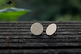 Náušnice - Hodvábne bodky - krémové - 12230265_