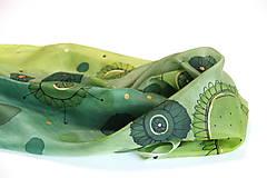 Šatky - šatka  V e s e l á (zelená) - 12231964_