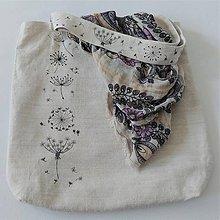Nákupné tašky - Ľanová taška maľovaná - 12231427_