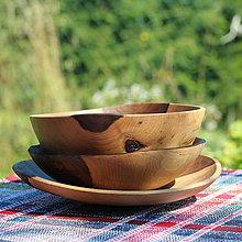 Nádoby - Sada misiek z orechového dreva - 12231600_