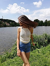 Topy - Háčkované tričko Viki - 12233043_