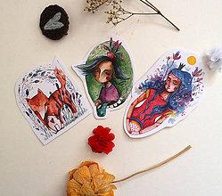 Papiernictvo - Balíček akvarelkových nálepiek - 12233307_