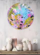 Obrazy - abstraktný kruhový obraz - 12234980_