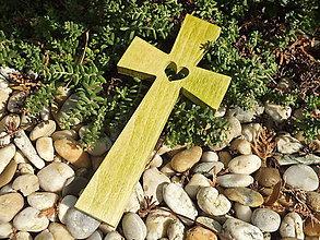 Dekorácie - Krížik 30 (Zelená) - 12234335_
