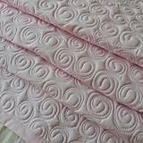 Úžitkový textil - Ružová zástena so smotanovými slimáčikmi - 12233346_