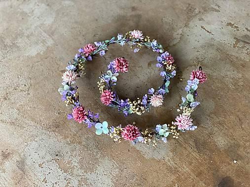 """Kvetinový pletenec """"pastelové stmievanie"""""""