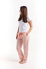 Pyžamy a župany - Laggar dámske pyžamové nohavice (Bledomodrá L) - 12233856_