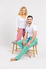 Pyžamy a župany - Laggar dámske pyžamové nohavice (Bledomodrá L) - 12233979_