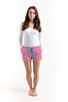 Pyžamy a župany - Laggar dámske pyžamové šortky  (Bledomodra bodka M) - 12234084_