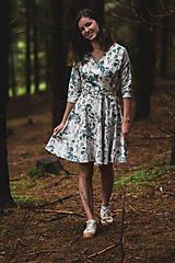 Šaty - Kvetované zavinovacie šaty  - 12236055_