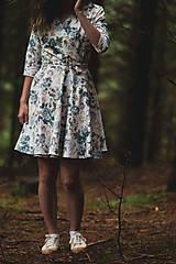 Šaty - Kvetované zavinovacie šaty  - 12236056_