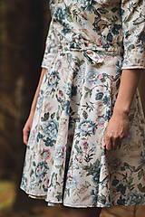 Šaty - Kvetované zavinovacie šaty  - 12236057_