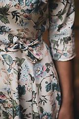 Šaty - Kvetované zavinovacie šaty  - 12236058_