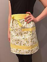 Iné oblečenie - Polovičná zásterka žltá (žltá) - 12234565_