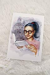 Obrazy - ART Print Pani čitateľka - 12233731_
