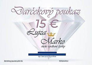 Darčekové poukážky - Darčekový poukaz 15€ - 12235417_
