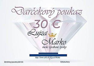 Darčekové poukážky - Darčekový poukaz 30€ - 12235459_