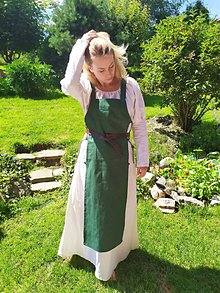 Šaty - Dobová zástera - 12233644_