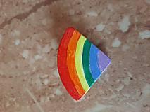 Odznaky/Brošne - Brošňa dúhová - 12238357_