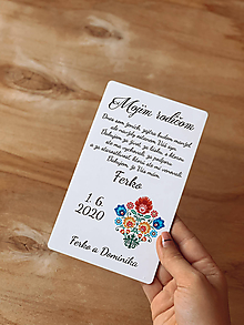 Darčeky pre svadobčanov - Poďakovanie rodičom 58 folk - 12237445_