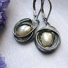 Náušnice - Náušnice s perlami § KRESZENZ § - 12238142_