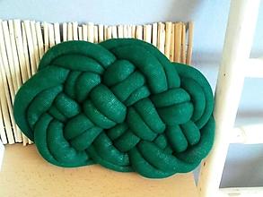 Úžitkový textil - CLOUD vankúšik (Forest zelený) - 12237101_