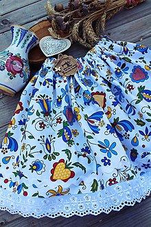 Detské oblečenie - Detská folklórna suknička s čipkou - 12237489_
